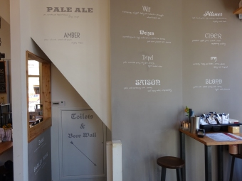Taproom Wall and Stairs Full Overview