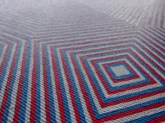 Octagonal Op Art Painting Close Up - HubertBowersArtist