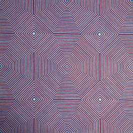 Octagonal Op Art Painting - HubertBowersArtist